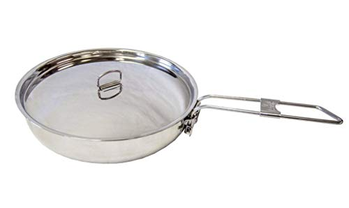 Pathfinder Stainless Steel Folding Skillet and Lid ()