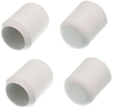 22mm, 8 unidades Taco protector para pata de silla color blanco Bulk Hardware