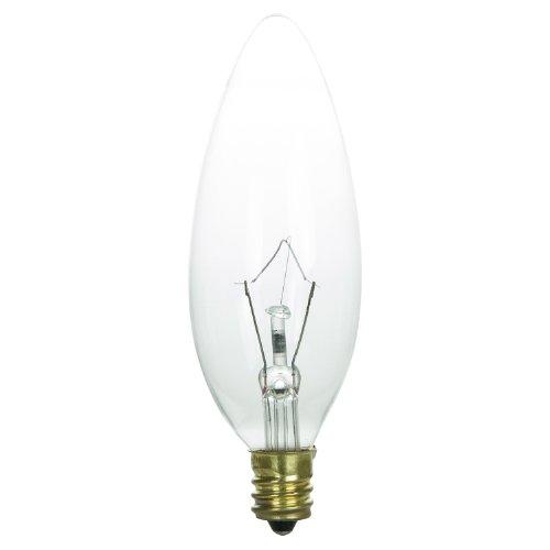 Sunlite 40CTC/HV Incandescent 40-Watt, Candelabra Based, Hig