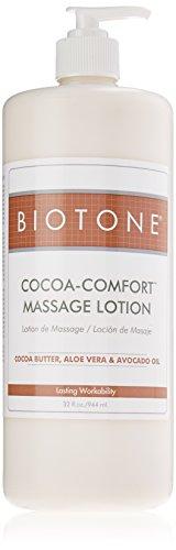 Biotone Cocoa-Comfort Massage Lotion, 32 Ounce (Cocoa Butter Massage Oil)