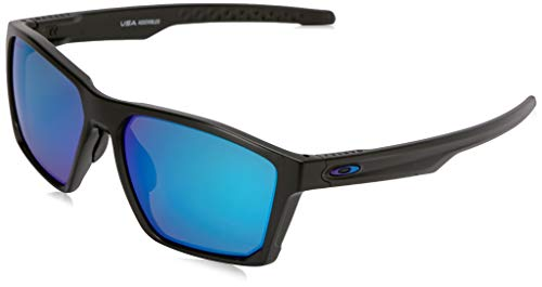 Oakley Men's Targetline Non-Polarized Iridium Square Sunglasses, Areo Matte Black, 58.0 mm