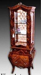 Barock Vitrine Rokoko Antik Stil Schrank Louis XV MoVi0924