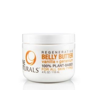 Nine Naturals Vanilla + Geranium Regenerative Pregnancy Belly Butter 4 oz by Nine Naturals