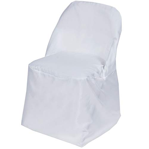 Mikash 10 Folding Round Polyester Fabric Chair Covers