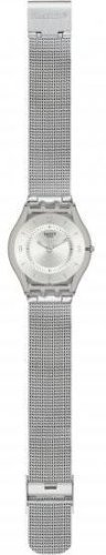 Swatch Metal Knit Quartz Resin Watch SFM118M
