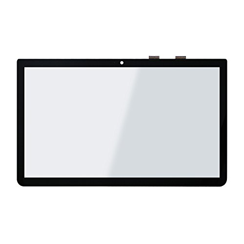 LCDOLED Compatible 15.6'' Touch Screen Digitizer Front Glass Replacement for Toshiba Satellite L55T-B Series L55T-B5330 L55T-B5278 L55T-B5257W L55T-B5271 L55T-B5330 L55T-B5334 L55T-B5279 (No Bezel) ()