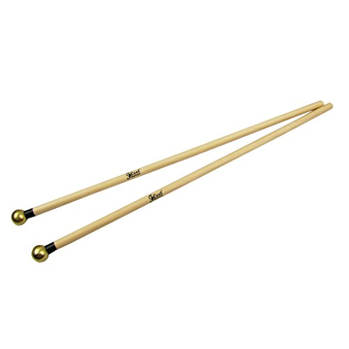 IKN Round Brass Head Mallets Sticks for Xylophone and (Brass Bell Mallets)
