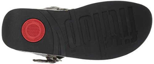 Fitflop Dames De Magere Sandaal Taupe Slang