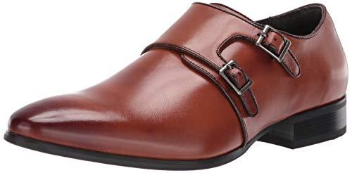 STACY ADAMS Men's Vance Plain Toe Double Monk Strap Dress Loafer Scotch, 12 M US ()