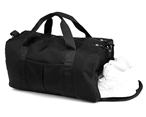 Upgraded Duffle Bag, Gym Bag, DOURR Swim Bag Dry Wet Depart Travel Weekender Beach Bag with Shoes Compartment for Women Men