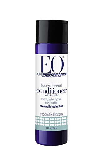 (EO Botanical Sulfate-Free Conditioner with Keratin, Coconut & Hibiscus, 8.4 Ounce )