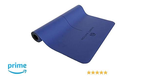 SHANTI NATION - Shanti Mat Pro XL - estera para yoga - no deslizante - extra grande - 200*100*0.6 cm - amistosa con el ambiente - marcación de ...