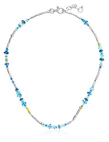 Gurhan Women's Vertigo Flurries Collection Sterling Silver Single Strand Short Bead Necklace, Adjustable ()