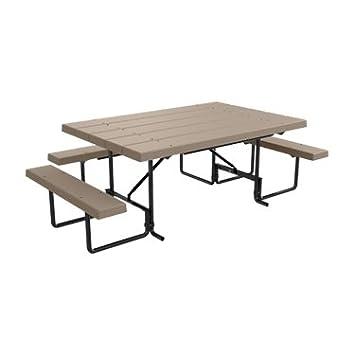 Amazoncom ADA Compliant Ft Plastic Picnic Table Seats - Picnic table seats 8