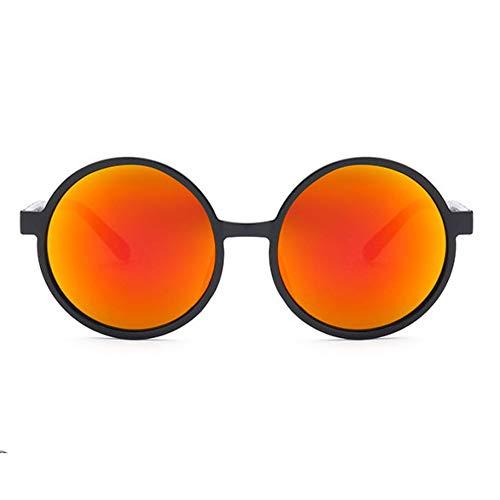 uv De Film Hommes À Soft Wzymntyj Soleil Couleur Designer Marque Anti Femmes Mode La Rouge orange Lunettes Rondes Wear 1qH5w6