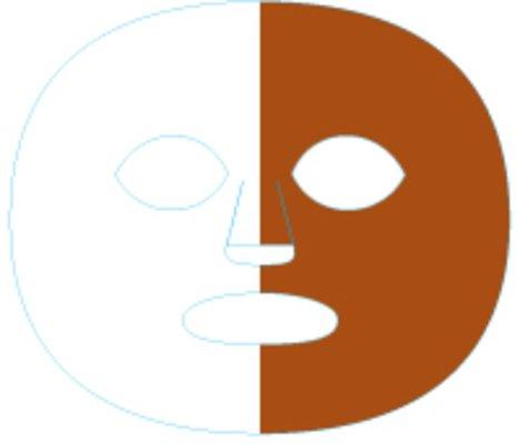 (The Gameface Company Sport Face Splitface Split Dark Orange White Team Temporary Tattoo)
