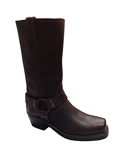 New FYRE Women's Harness 12R Boot Blazer Brown Tumbled Pull Up Leather 9