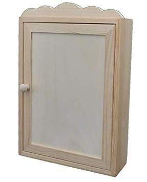 Caja para llaves. En madera de pino en crudo, para pintar. Medidas (ancho/fondo/alto): 25 * 8 * 38 cms.: Amazon.es: Hogar
