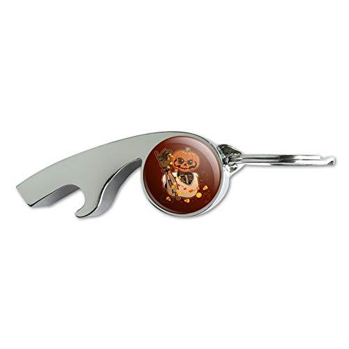 Jack O Lantern Halloween Candy Sugar Salt Bae Pumpkin Chrome Plated Metal Whistle Bottle Opener Keychain Key Ring