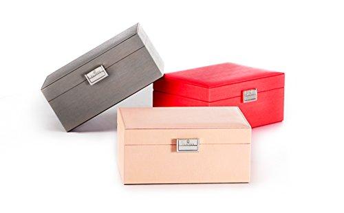 Vlando Wooden Jewelry Box, Jewelry Organizer and Storage- Grey by Vlando (Image #4)