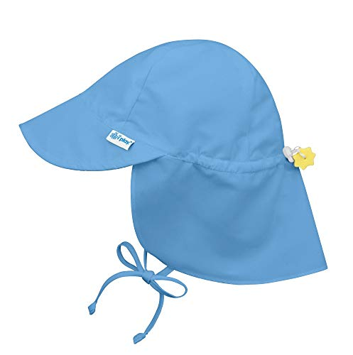 Flap Sun Protection Hat-Light Blue-0/6mo from i play. by green sprouts