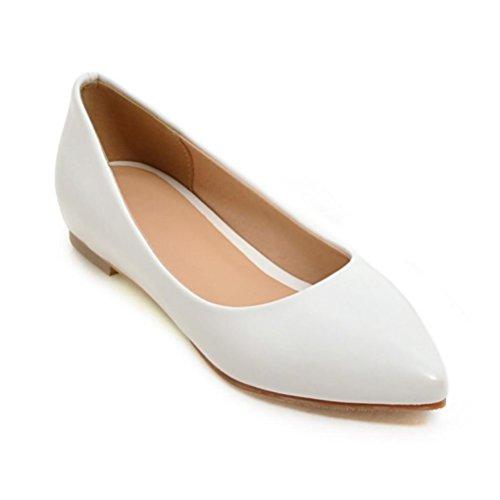 QPYC singole basse Scarpe casual Bocca white poco Scarpe Appartamento profonda appuntito di Femmina con Codice Scarpe formato 400wxr