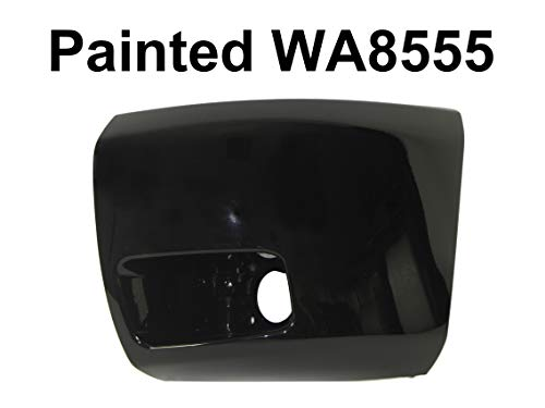 Fits Chevy Silverado 1500 2007-2013 Painted WA8555 Black Front Bumper End Cap Lh (with Fog Hole) GM1004147