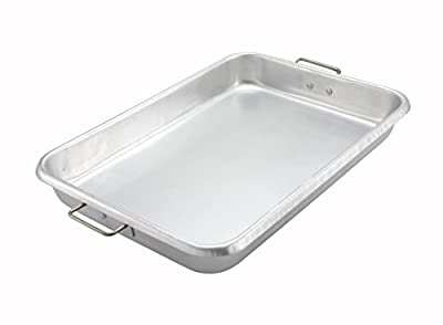 Winco ALRP-1826H, 25.75x17.75x3.5-Inch 12 Gauge Aluminum Bake-Roast Pan With Handles, Commercial Grade Roasting Baking Pan