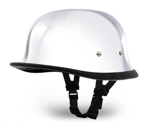 Chrome Novelty Motorcycle Helmet - 3