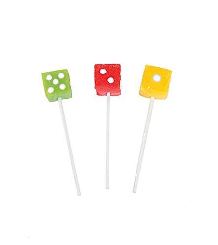 Dice Lollipop Suckers (1 Dz)