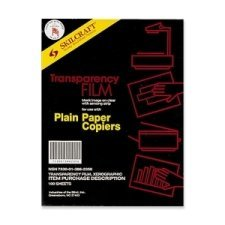 Skilcraft Clear Transparency Film - Plain Paper Copiers 100 sheets