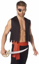 Pirate Create-a-costume - Pirate Vest Male