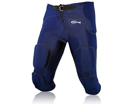 Full Force American Football Gamehose Stretch mit integrierten 7 Pads All in One, Navy Blau, Gr. XS-4XL Full Force Wear