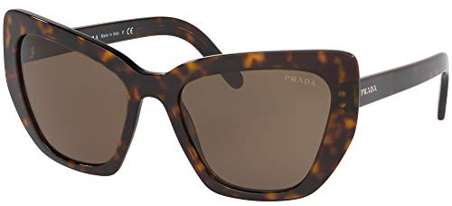 - Prada PRADA Postcard Evolution PR 08VS Dark Havana/Brown 55/19/140 Women Sunglasses