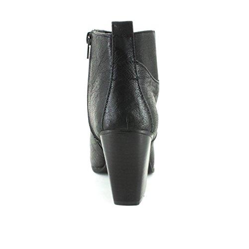 Nouvelles Bottes Noires À Talons Moyens Avec Un Thème À La Mode Victorienne - Noir - Tailles Uk 3-8