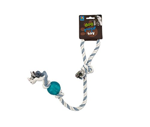 Dog rope toy with plastic ball-Package Quantity,48