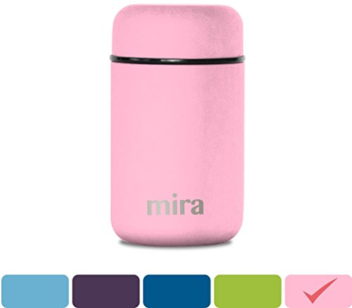 MIRA Lunch, Food Jar, Vacuum Insulated Stainless Steel Lunch Thermos, 13.5 Oz, Rose Pink Thermos Food Jar