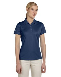 adidas Golf Ladies ClimaLite Pique Short-Sleeve Polo - Navy A131 X-Large