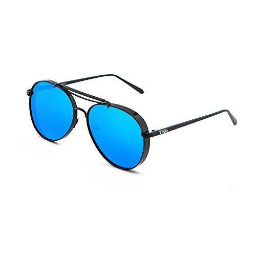 Negro Azul gradiente aviador espejo de MUNCH mujer TWIG Gafas sol hombre 4xZqRpz