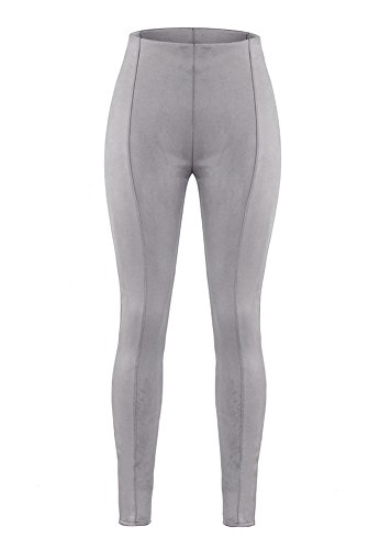 Tights DELEY Grigio Annata Pants Fit Skinny Donne Slim Elegante Alta Matita Jeans Signora Scamosciata Vita Lunghi Pantaloni Ufficio Moda 1raq1wU