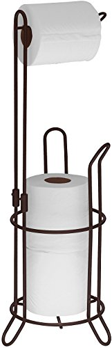 SImpleHouseware Bathroom Toilet Tissue Paper Roll Storage Holder Stand, Bronze