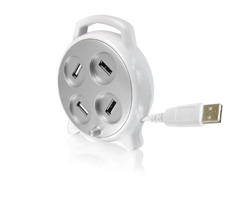 CTA Digital 4 Port USB Spin Reel