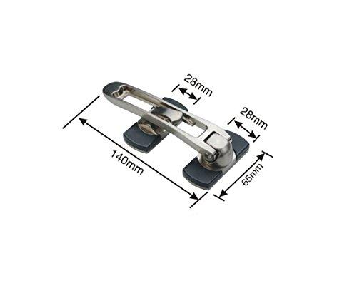 TOGU Solid Thicken Security Door Guard,Gate Latches Swing Bar Door Guard,Burglar-Proof Padlock Door Clasp for Home,Apartment,Hotel,Motel,Dormitory,Satin Nickel by Togu (Image #1)