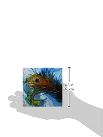 3dRose cst/_60467/_4 Abstract Peacock Feather Ii Ceramic Tile Coasters Set of 8