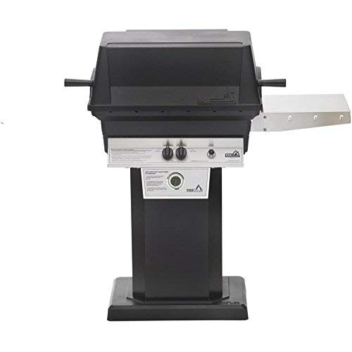 Freestanding Natural Gas Grill - Pgs T-series T30 Commercial Cast Aluminum Freestanding Natural Gas Grill With Timer On Black Patio Base