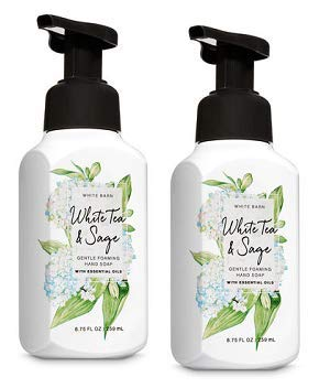 Bath and Body Works 2 Pack White Tea and Sage Gentle Foaming Hand Soap 8.75 Oz.