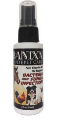 Pet Care Antibacterial & Antifungal Spray, Wounds, cuts, Scratches, Hot Spots, Ringworm, Fungus, Rain Rot, Punctures, Thrush, Itchy Skin, rashes, Yeast & Ear infections for Dog, cat & Horse. (59 ml) ()
