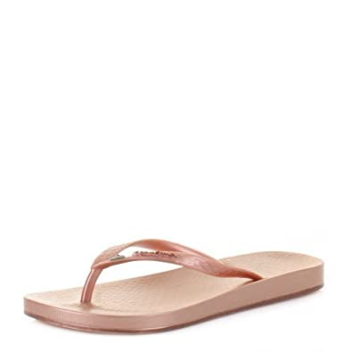 7fa74db5acc Womens Ipanema Beach Rose Gold Toe Post Flip Flops SIZE 5  Amazon.co.uk   Shoes   Bags