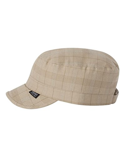 Peter Grimm Cadet Fashion Ladies Cap,One Size, Tan Plaid