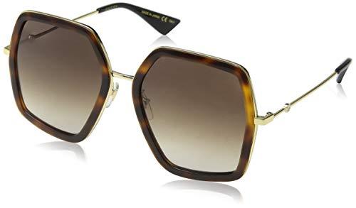 Gucci GG 0106 S- 002 002 HAVANA / BROWN / GOLD Sunglasses